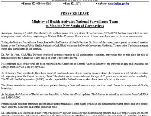 Ministry Of Health Activates National Surveillance Team To Monitor New Strain Of Coronavirus